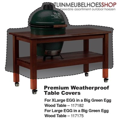 Big Green Egg Hoes voor Big Green Egg XL Table 160 x 90 H: 80 / 144 cm