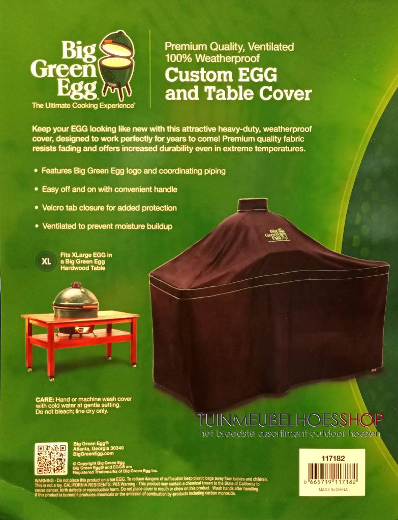 Green Egg Hoes Voor Xl Table 160 X 90 H 80