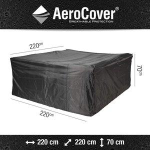 Hoes voor vierkante loungeset, 220 x 220 H: 70 cm