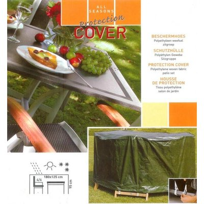 All Seasons Covers / Coverit Afdekhoes tuinset ovaal 180 x 125 cm hoog 95 cm