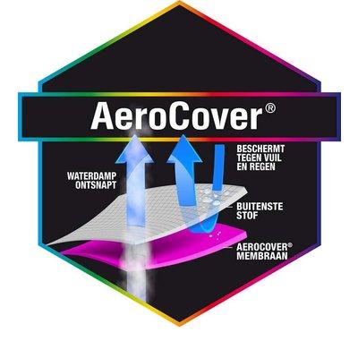 AeroCover Happy Cocooning vuurtafel hoes 112 x 82 cm H: 50 cm