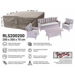 Afdekhoes loungeset, 200 x 200 H: 70 cm