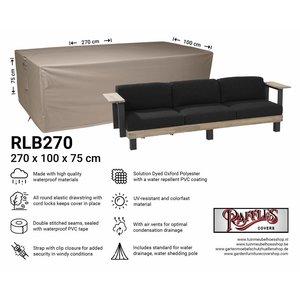 Hoes voor loungebank, 270 x 100 H: 75 cm