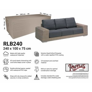 Tuinhoes loungebank, 240 x 100 H: 75 cm