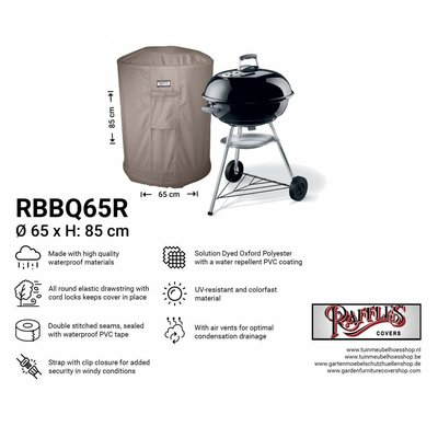 Ronde barbecuehoes Ø 65 H: 85 cm
