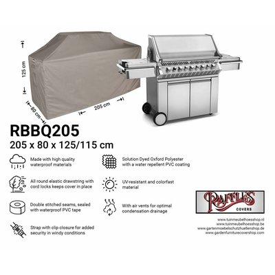 Barbecue beschermhoes 205 x 80 H: 125 / 115 cm