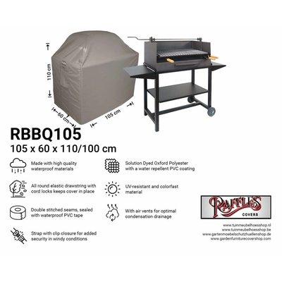 Barbecue afdekhoes 105 x 60 H: 110 / 100 cm