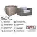 Raffles Covers Hoes voor loungestoel, 115 x 100 H: 75 cm