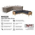 Raffles Covers Hoes hoekbank, 220 x 220 x 90 H: 70 cm