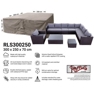 Hoes voor complete loungeset 300 x 250 H: 70 cm