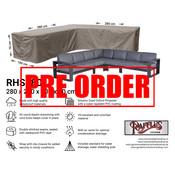 Raffles Covers !!PRE-ORDER - AFWIJKENDE LEVERTIJDEN!! Hoekbank beschermhoes 280 x 280 x 100 H: 70 cm