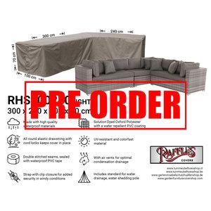 !!PRE-ORDER!! Loungesethoes voor hoekopstelling, 300 x 240 x 100 H: 70 cm