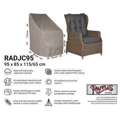 Raffles Covers !!PRE-ORDER - AFWIJKENDE LEVERTIJDEN!! Hoes voor tuinstoelen 95 x 85 H: 115 / 65 cm