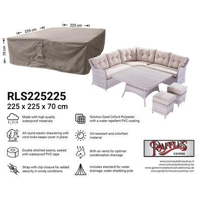 Hoes loungeset 225 x 225 H: 70 cm
