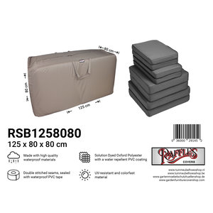 Tas voor lounge kussens, 125 x 80 H: 80 cm