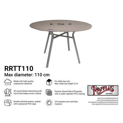 Hoes voor rond tafelblad Ø 110 cm