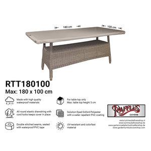Beschermhoes rechthoekig tafelblad, 180 x 100 cm