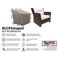 Raffles Covers Hoes voor loungestoel, 95 x 95 H: 85 /65 cm