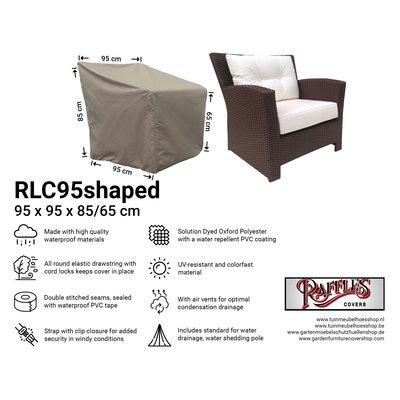 Hoes voor loungestoel 95 x 95 H: 85 /65 cm