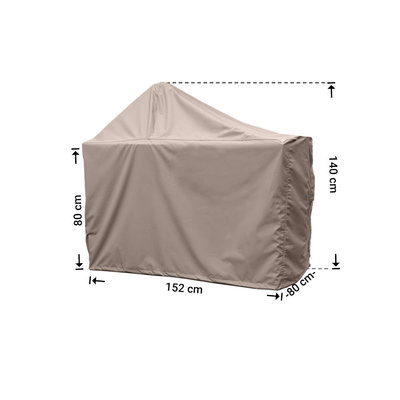 Raffles Covers Hoes voor Big Green Egg barbecue 152 x 80 H: 80 / 140 cm
