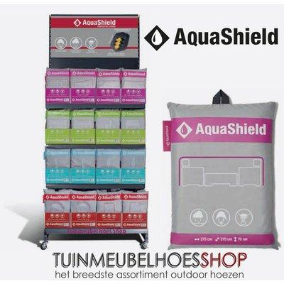 AquaShield Gasheater, terrasverwarmer, 220 cm hoog, diam 90 / 60 cm