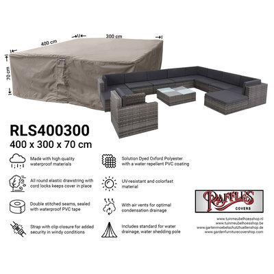 Raffles Covers !!PRE-ORDER - AFWIJKENDE LEVERTIJDEN!! Beschermhoes loungeset 400 x 300 H: 70 cm