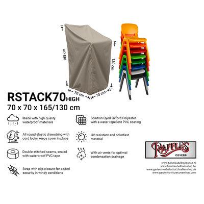 Hoes stapelstoelen 70 x 70 H: 165 cm