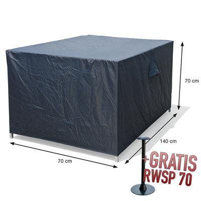 Loungebank beschermhoes 140 x 70 H: 70 cm