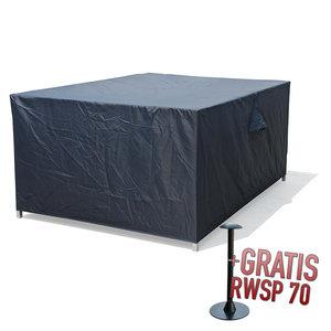 Afdekhoes voor complete loungeset, 255 x 255 H: 72 cm