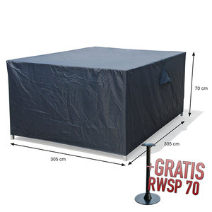 Hoes voor loungesets, 305 x 305 H: 70 cm