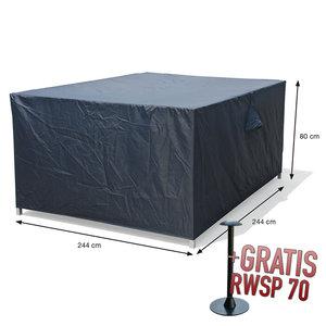 Loungeset beschermhoes, 244 x 244 H: 80 cm