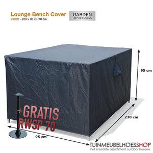 Loungebankhoes, 230 x 95 H: 70 cm