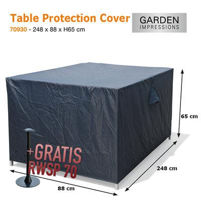 Tafel beschermhoes 248 x 88 cm H: 65 cm