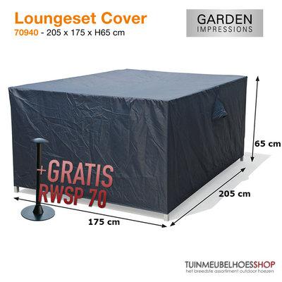Hoes loungeset, 205 x 175 cm H: 65 cm