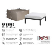 Raffles Covers Hoes voor lounge table 85 x 85 H: 45 cm