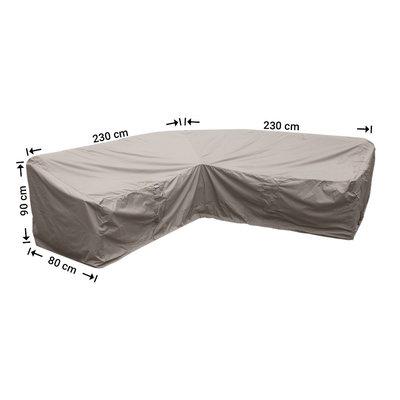 Raffles Covers Hoekbank beschermhoes dining 230 x 230 x 80, H: 90 / 65 cm