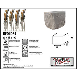 Hoes voor opgeklapte stoelen, 65 x 65 H: 100 cm