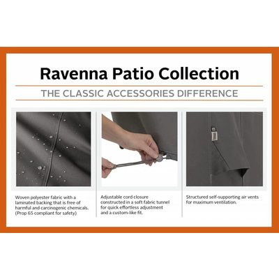 Ravenna, Classic Accessories Hoes voor patio chaise lounge, 218 x 86 cm, hoog 79 cm