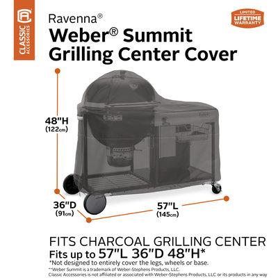 Ravenna, Classic Accessories Hoes voor Weber Summit Grilling Center Houtskoolbarbecue 145 x 91 cm, Hoog 122 cm