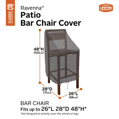 Ravenna, Classic Accessories Hoes voor barkruk, bar chair, 71 x 66 H: 122 cm
