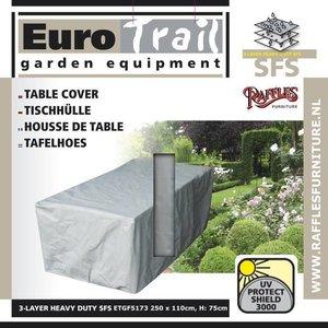 EuroTrail Wetterschutz für rechteckige Gartentisch 250 x 110 H: 75 cm