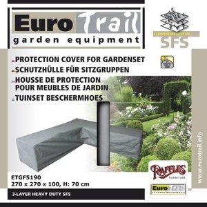 EuroTrail Loungemöbel Abdeckhaube für L-Form Gartensofa 270 x 270 H: 70 cm