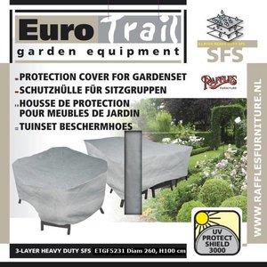 EuroTrail Abdeckung für Gartenmöbel Sitzgruppe, rund Ø 260 H: 100 cm