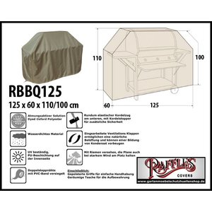 Raffles Covers Schutzhülle für Gasgrill 125 x 60 H: 110/100 cm