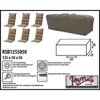 Raffles Covers Tragetasche für 6 Hochlehner Auflagen 125 x 50 H: 50 cm
