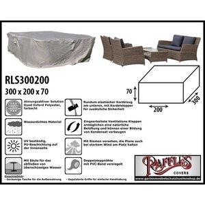 Raffles Covers Schutzhaube für Geflecht Lounge Garnitur 300 x 200 H: 70 cm