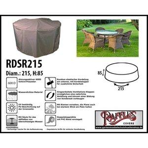 Raffles Covers Abdeckhaube für runder Tisch mit Gartenstühle Ø 215 H: 85 cm