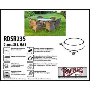 Raffles Covers Abdeckung für runden Gartentisch mit Stühlen Ø 235 H: 85 cm
