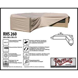 Raffles Covers L-Förmiges Loungemöbel Abdeckhaube 260 x 260 x 100 H: 70 cm
