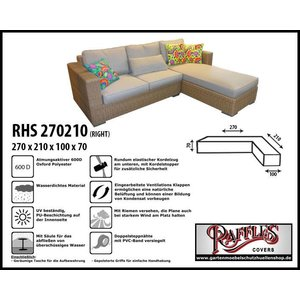 Raffles Covers L-Form Sofa Schutzhülle 270 x 210 x 100 H: 70 cm